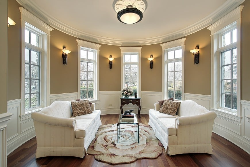 Have a look at this elegant and sophisticated living room design.