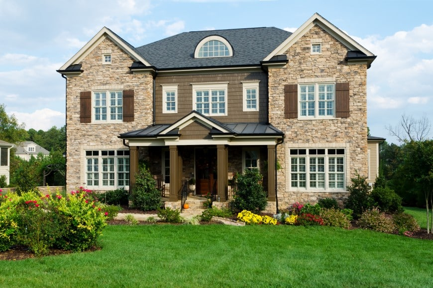 Here is a delightful example of a symmetrical front facade