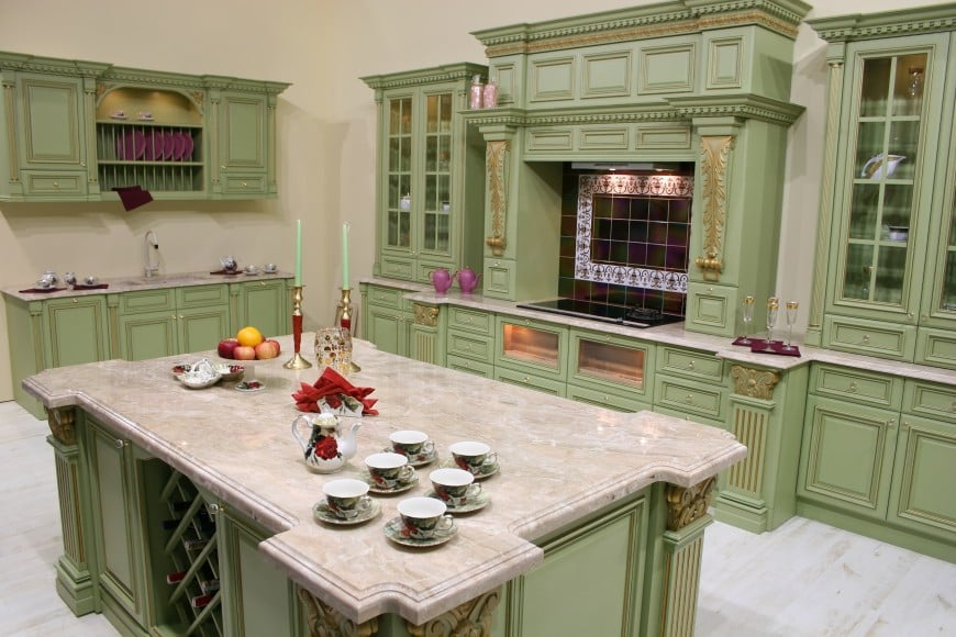 A green kitchen really does set itself apart from the pack.