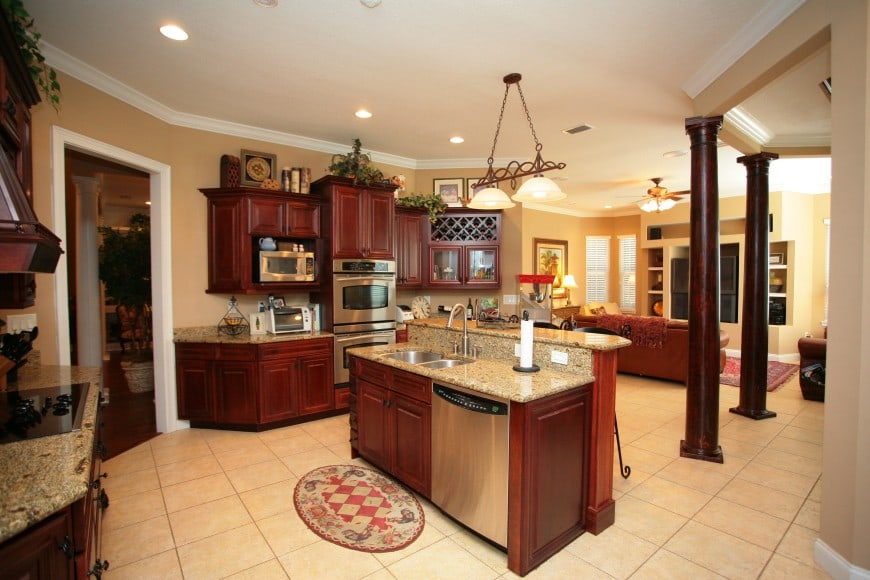 Here is another kitchen design with an island counter