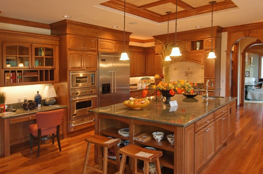 This cozy kitchen design is sure to make you feel right at home,