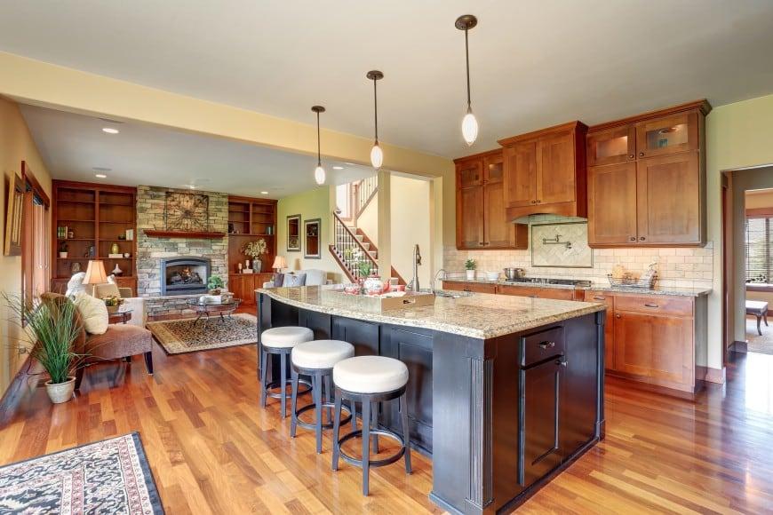 It's a beautiful design set in wood and granite