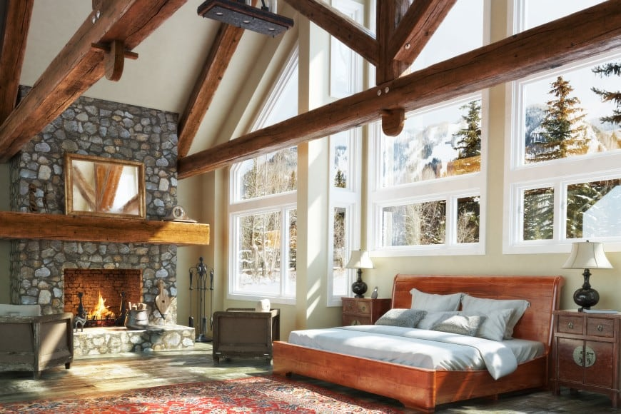 10 Spectacular Bedrooms with Fireplaces