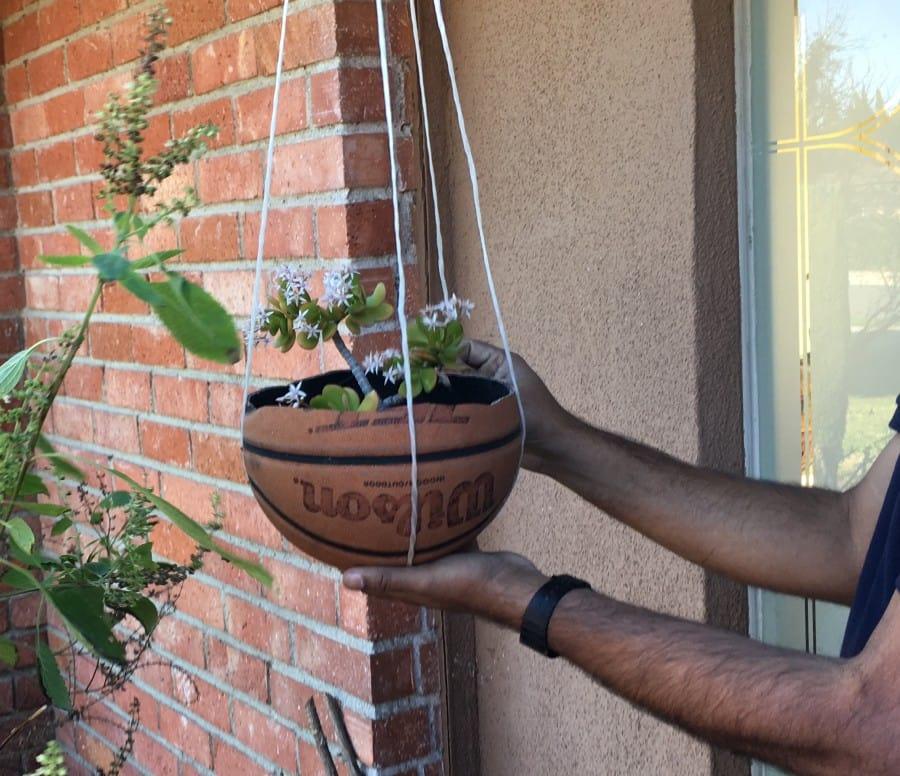 basketball flower pot