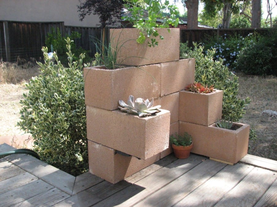cinder block for flowers
