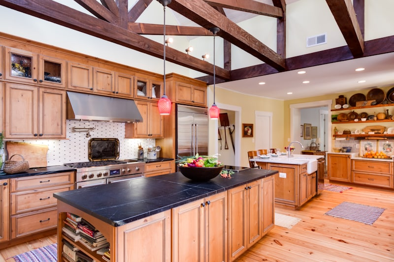 rustic kitchen with soapstone