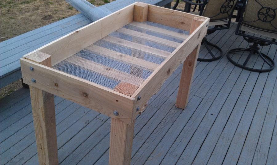 raised wood planter