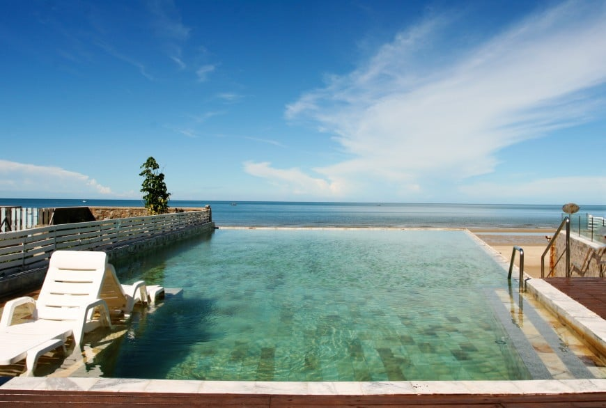 cool infinity swimming pool