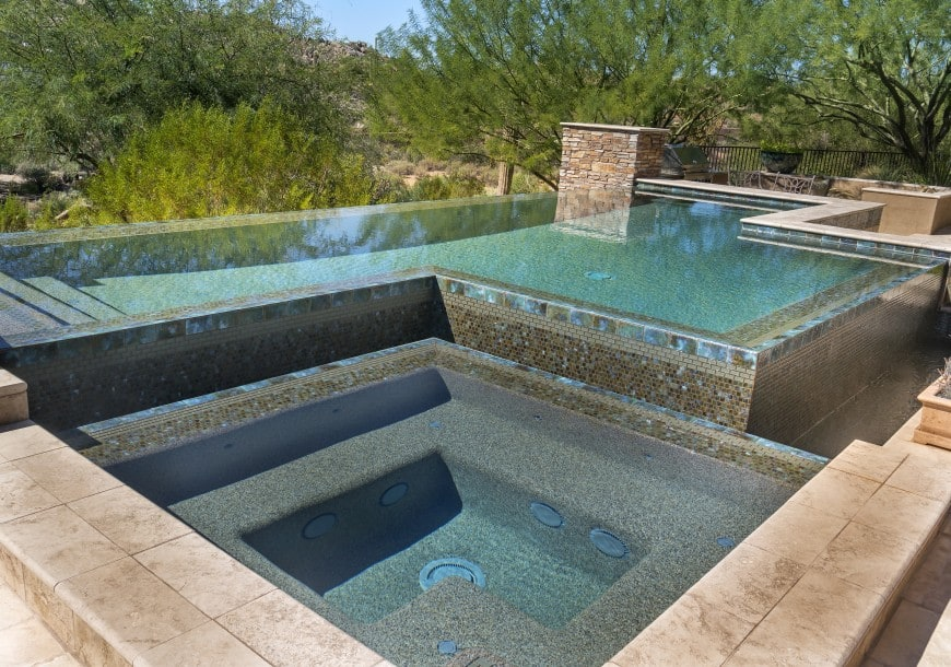 multi-level swimming pool