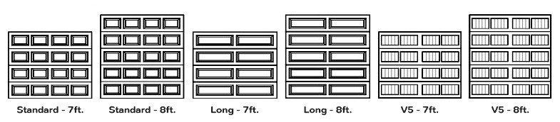 traditional style garage door dimensions
