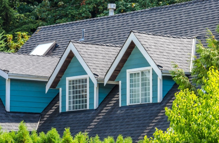roof with asphalt shingles