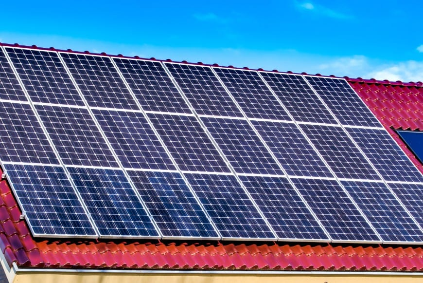 roof tiles with solar panels