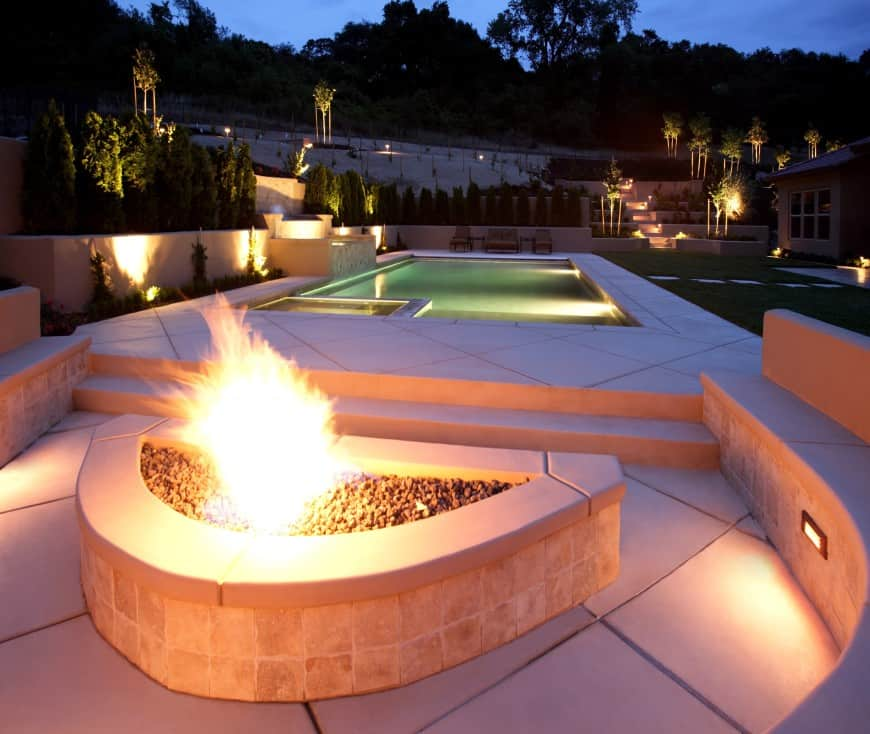 stone bench outdoor backyard