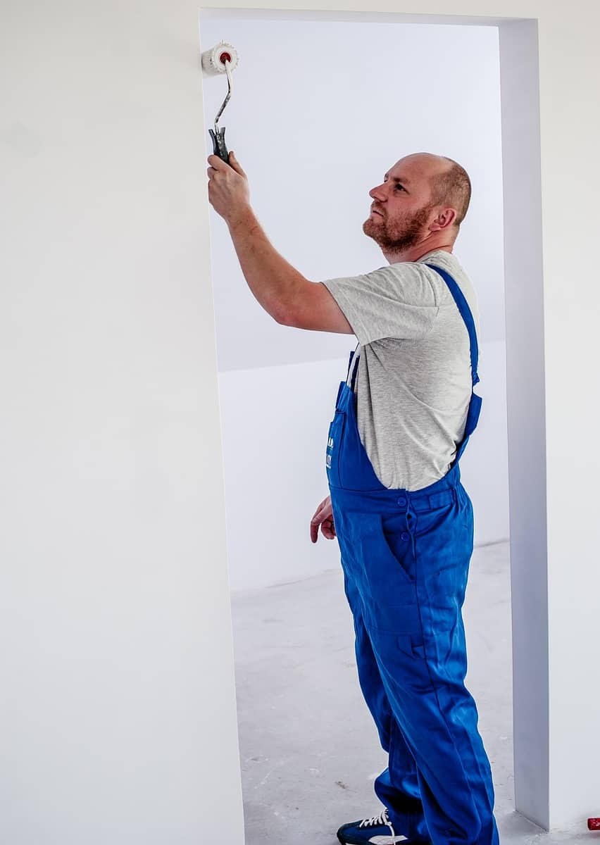 painting the wall white
