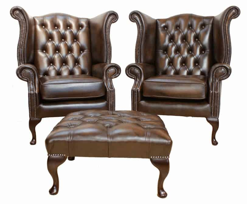 chesterfield chairs set
