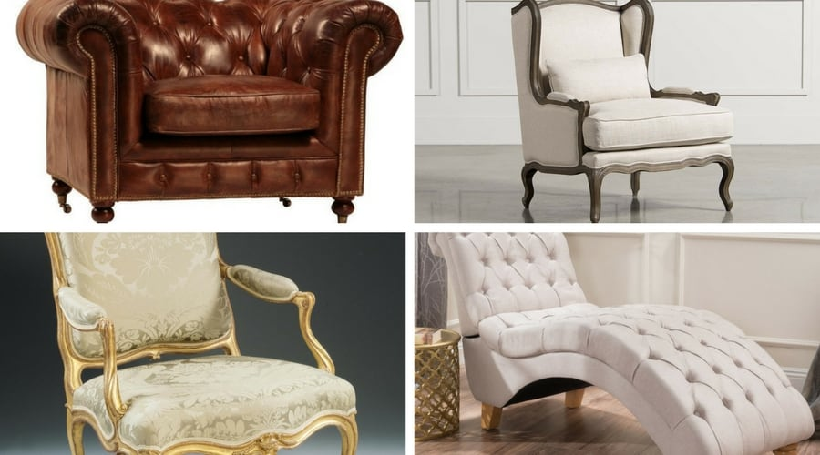 different types of chairs with pictures