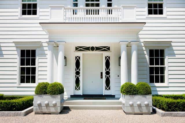 nice white external front door
