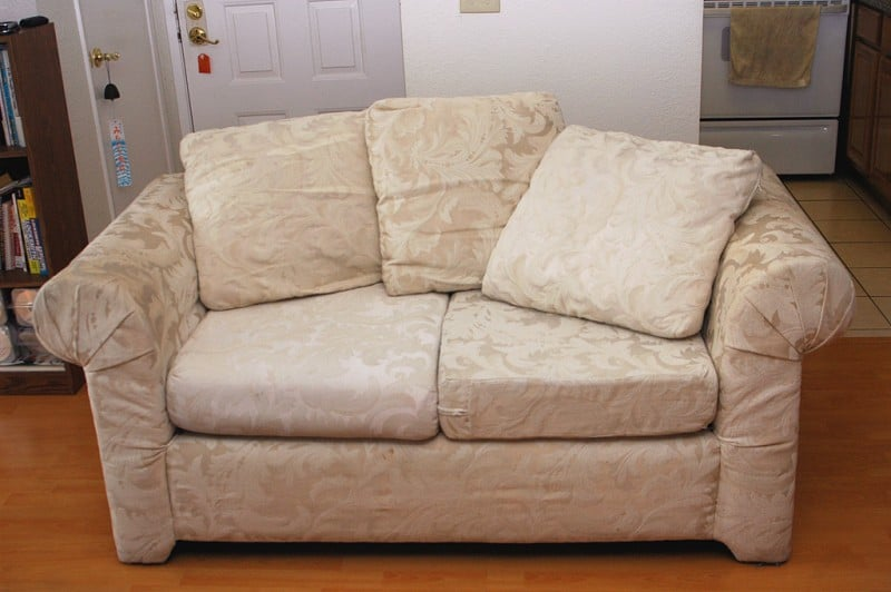 two person love seat couch