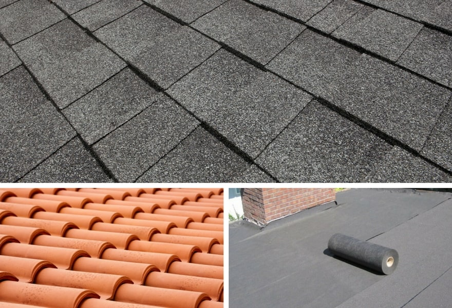 roof shingles vs tiles vs rolled