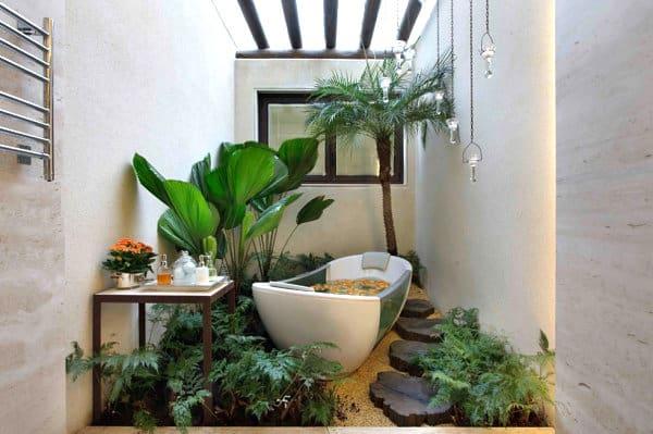 bathtub in greens