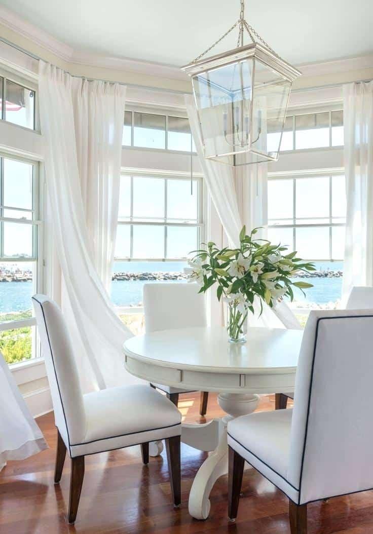 curtains in coastal kitchen