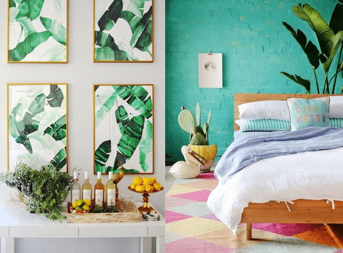 colors in tropical design