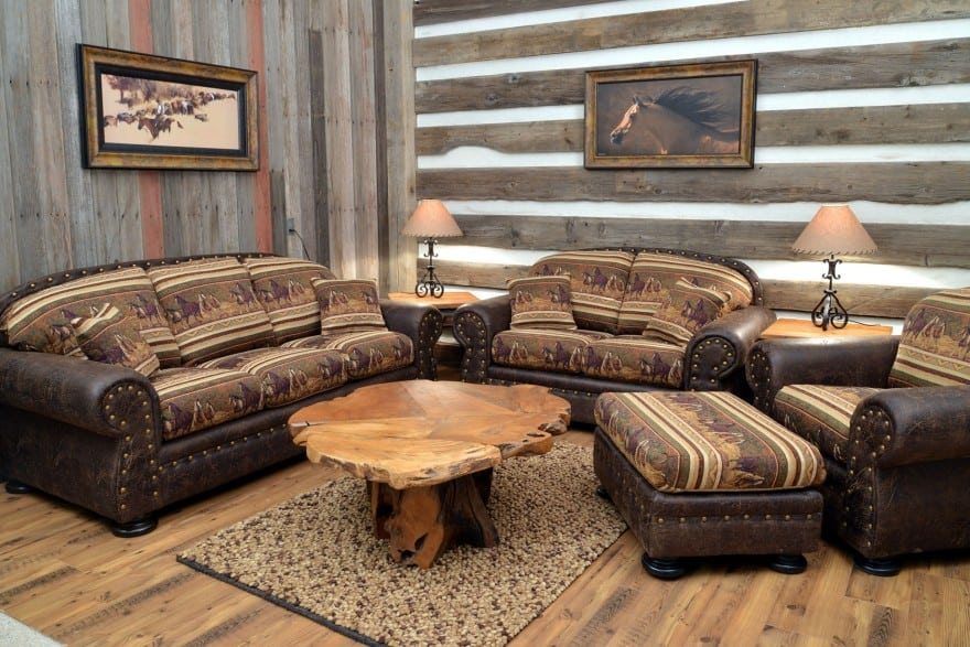 living room in western style decor