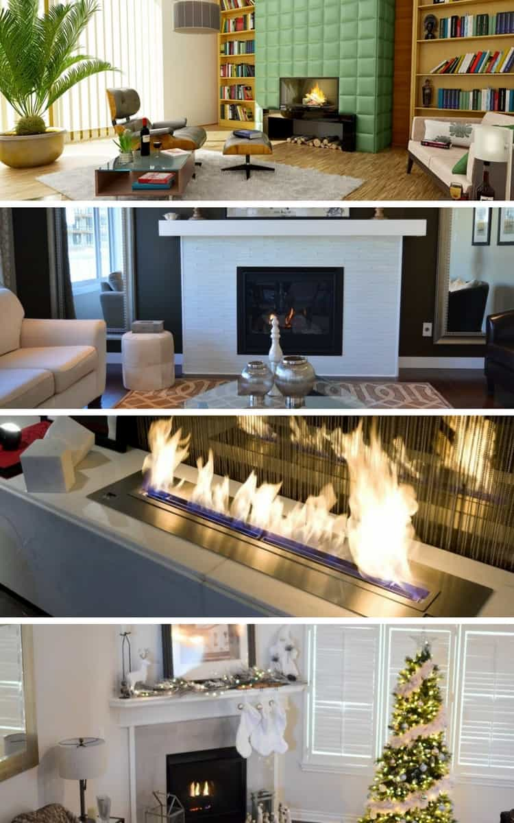 4 types of fireplaces