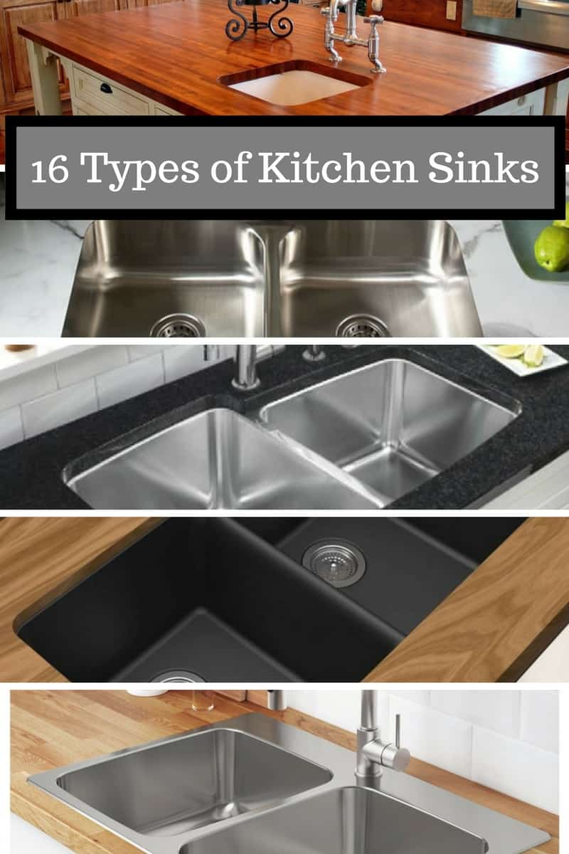 16 Types of Kitchen Sinks