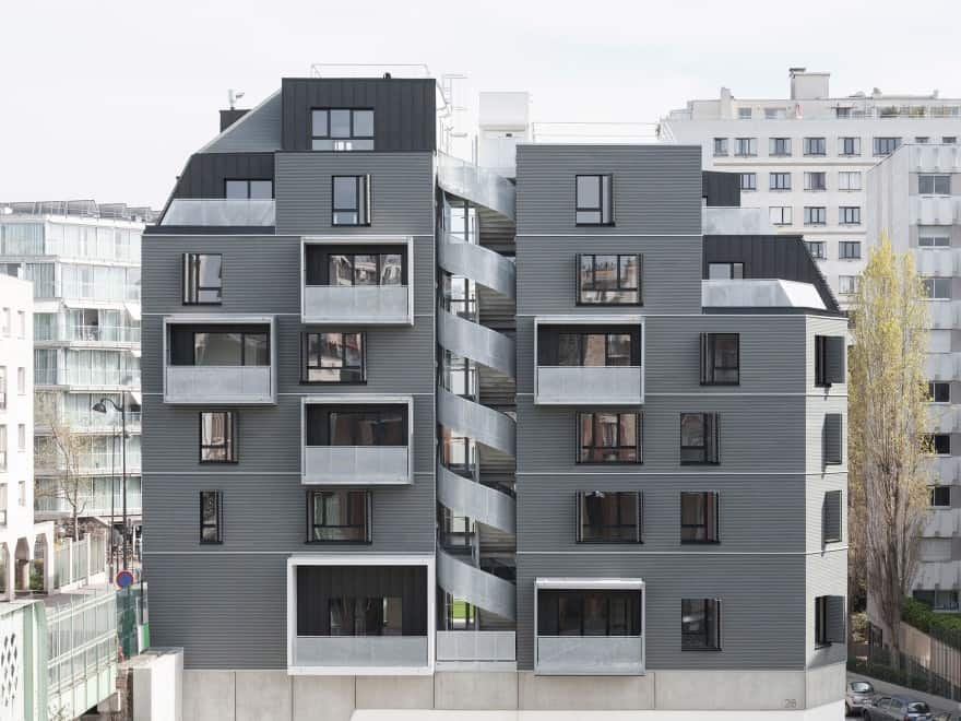 apartments in a building
