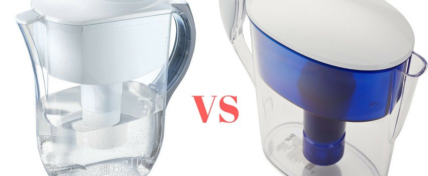 comparison of Brita and Pur Water Filter Pitchers