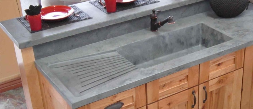integrated sink into countertop