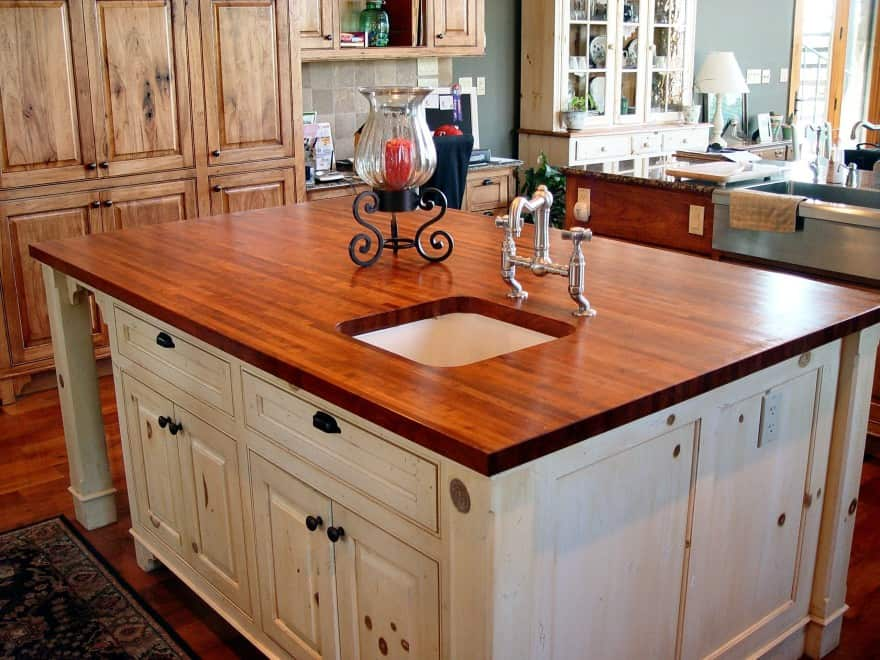 sink in kitchen island