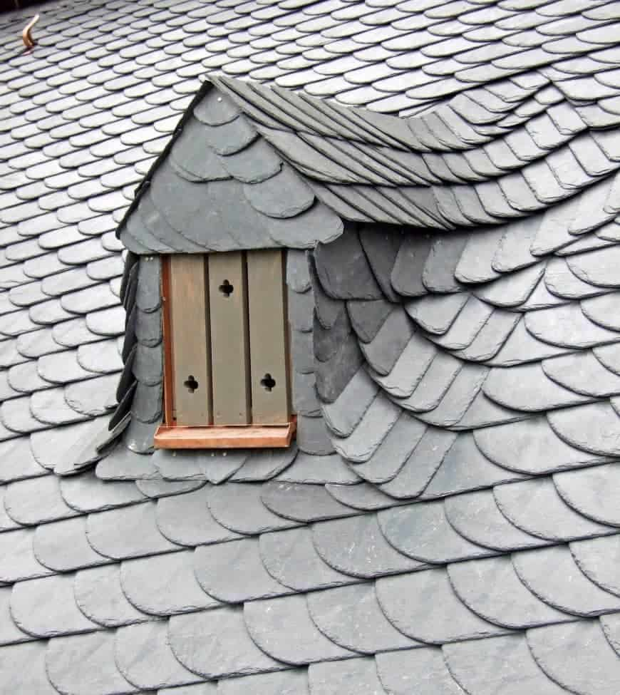 roof with slate