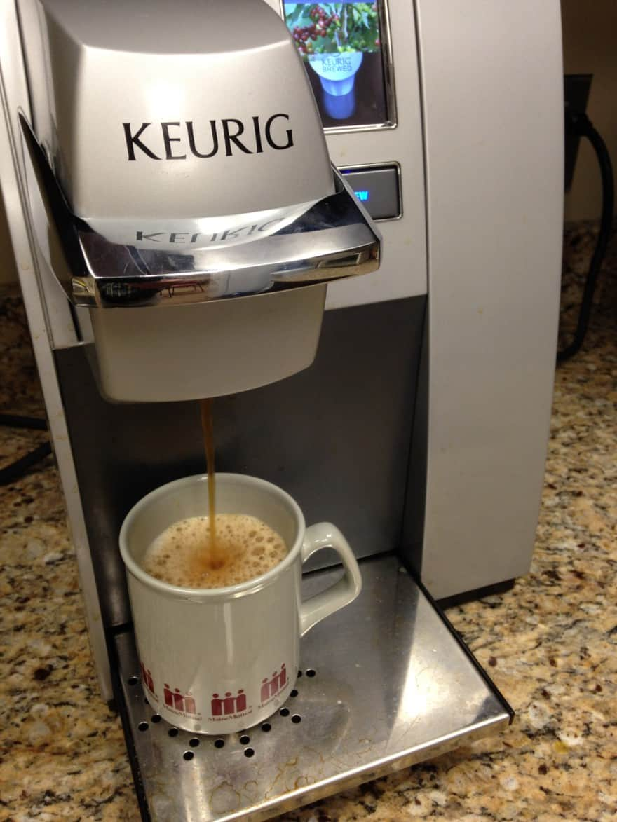 k-cups in a Keurig machine