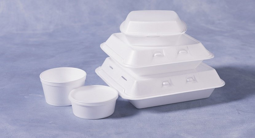 Styrofoam containers. Takeout containers