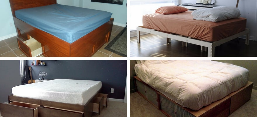 built your own bed frames at home
