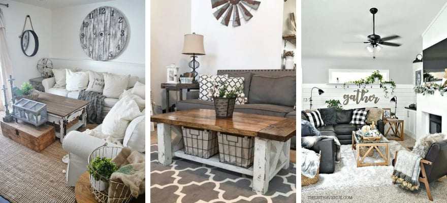 25 Modern Farmhouse Living Room Design Ideas - Decor with ...