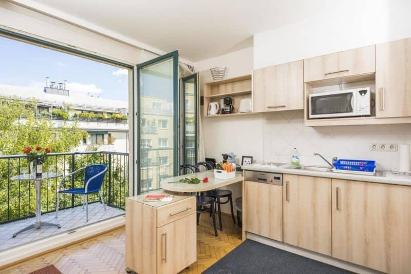 balcony kitchen design