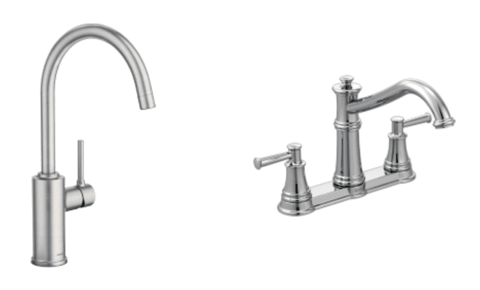 single and double handle faucets