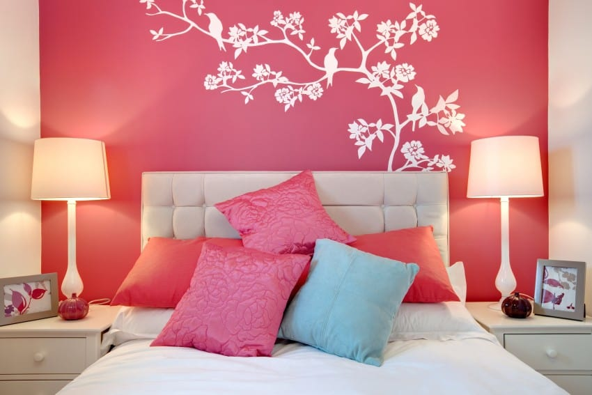 wall design in bedroom