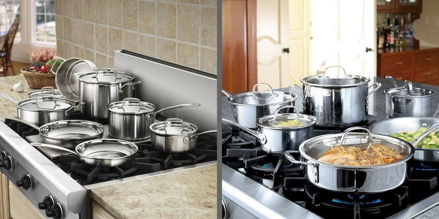 comparison of kitchen sets cuisinart vs tri-ply