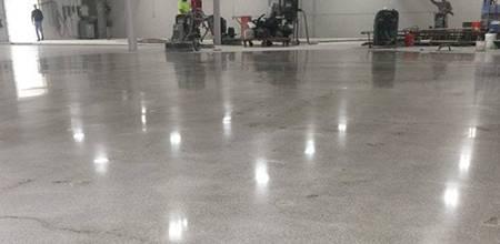 epoxy floor with polish