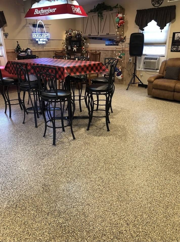 epoxy floor in house