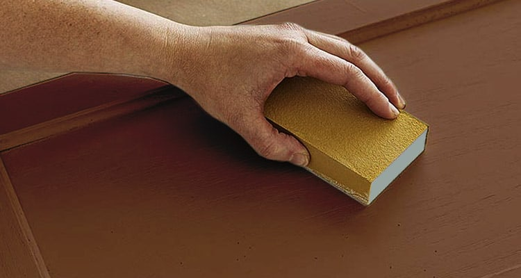 Rub your furniture with a sandpaper