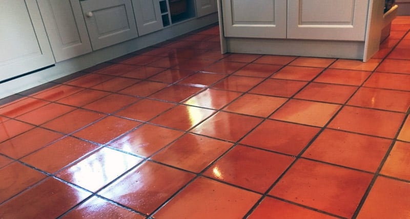 Red color travertine tiles