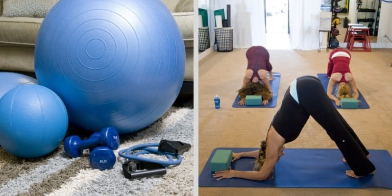 home gym yoga room