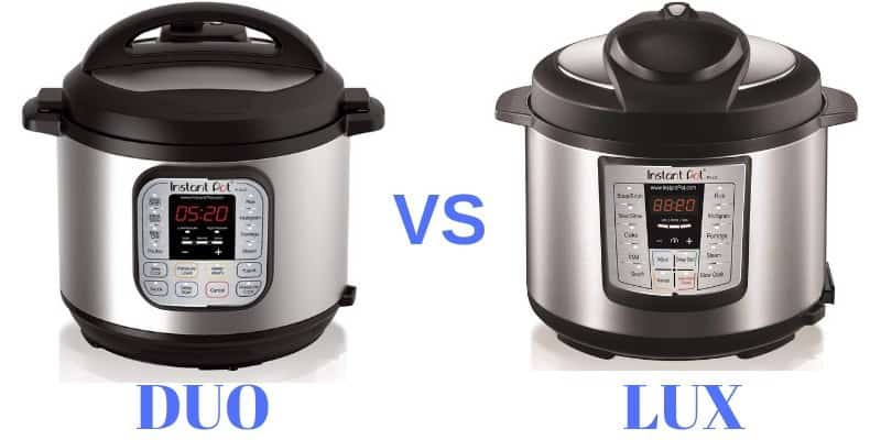 comparison of instant pot duo 60 and lux 60 v3