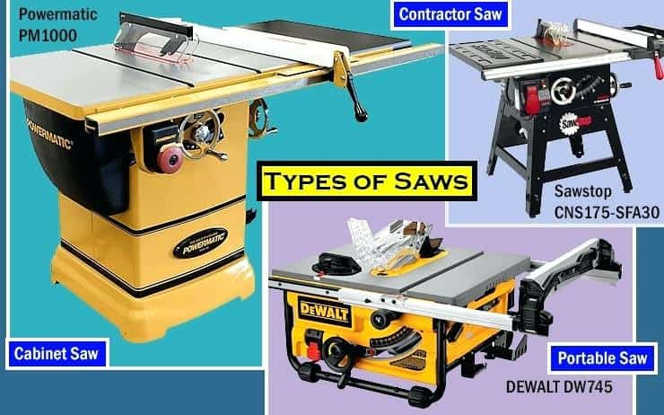 types of saws