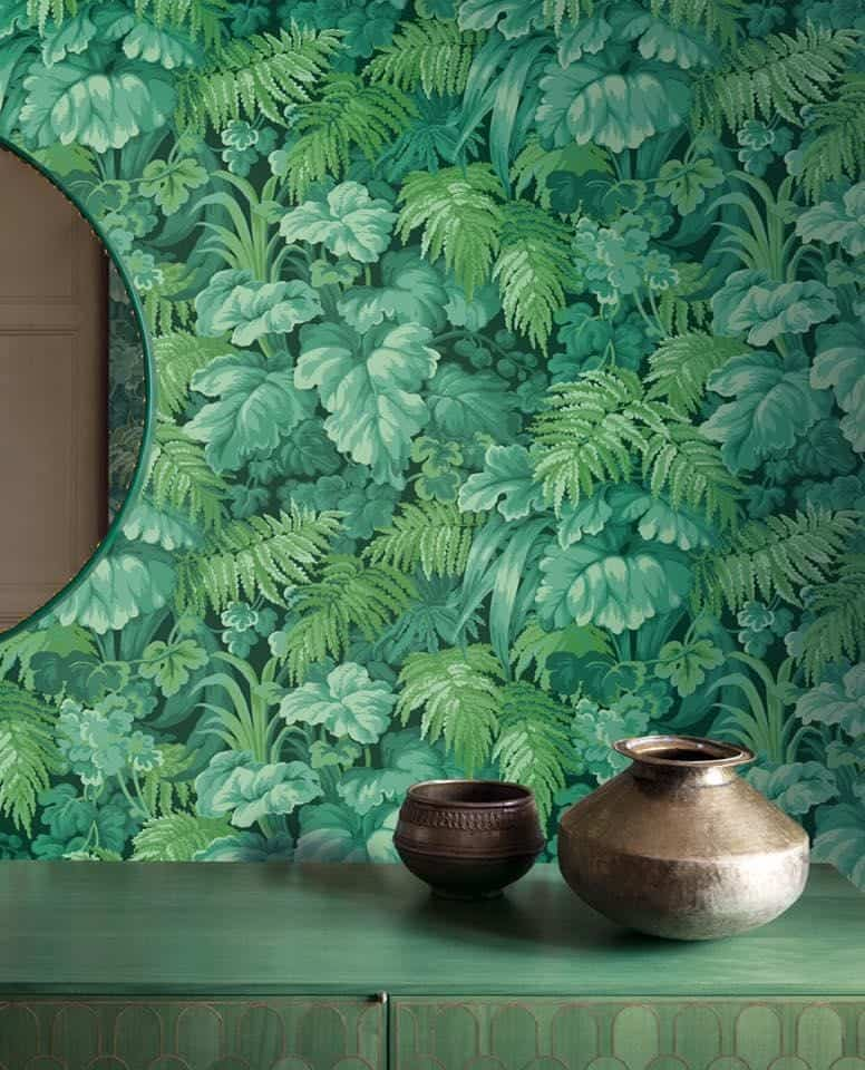green wall covering
